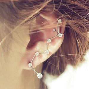PREVIEW Crystal Ear Climber Cuff Stud Clip Earring